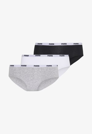 HIPSTER 3 PACK - Briefs - white/grey/black
