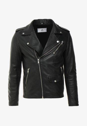 ROCKY - Leather jacket - black