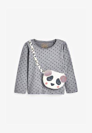 INTERACTIVE PANDA BAG - Top sdlouhým rukávem - grey