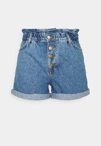 ONLY Tall - ONLCUBA LIFE PAPERBAG  - Denim shorts - medium blue denim - 0