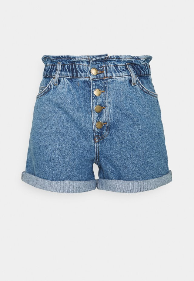 ONLCUBA LIFE PAPERBAG  - Short en jean - medium blue denim