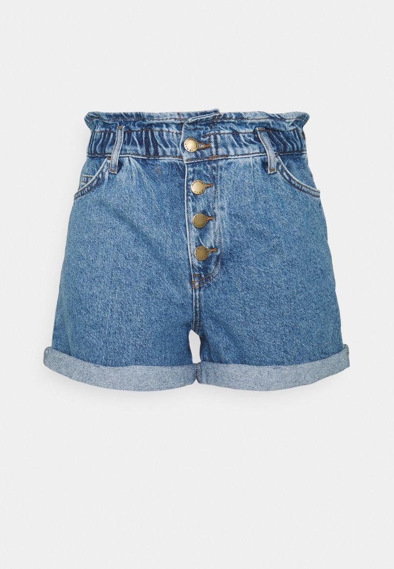 ONLY Tall - ONLCUBA LIFE PAPERBAG  - Denim shorts - medium blue denim