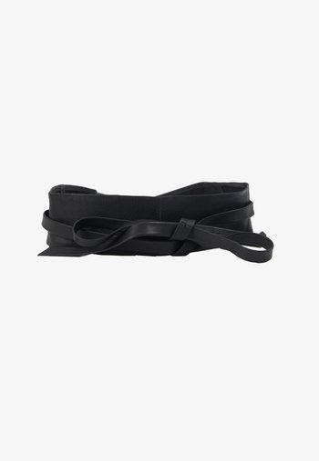 LEATHER - Waist belt - black