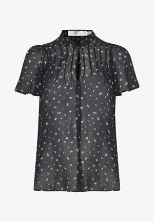 HOLLIEIW - Button-down blouse - navy blue spaced terrazzo