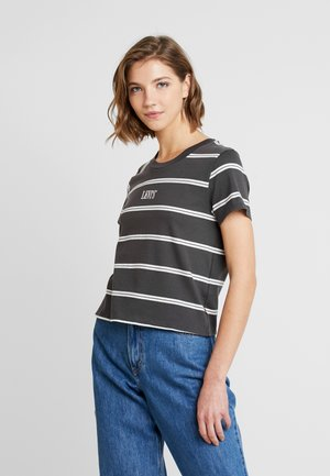GRAPHIC SURF TEE - Printtipaita - mottled dark grey