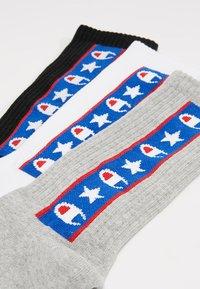 Champion - JAPAN TAPE CREW 3 PACK - Sports socks - black/white/grey - 2