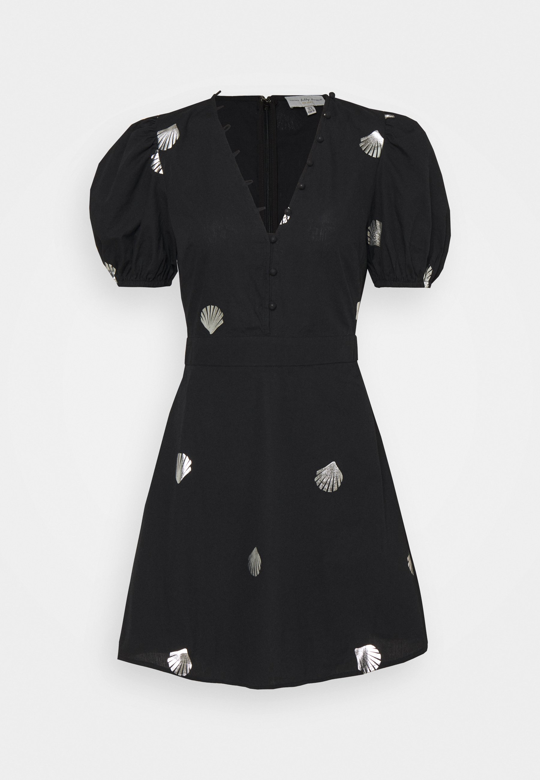 Women MINI DRESS WITH SHELLS AND STAR FISH - Shirt dress