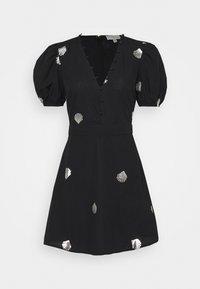 Never Fully Dressed - MINI DRESS WITH SHELLS AND STAR FISH - Košilové šaty - black - 0