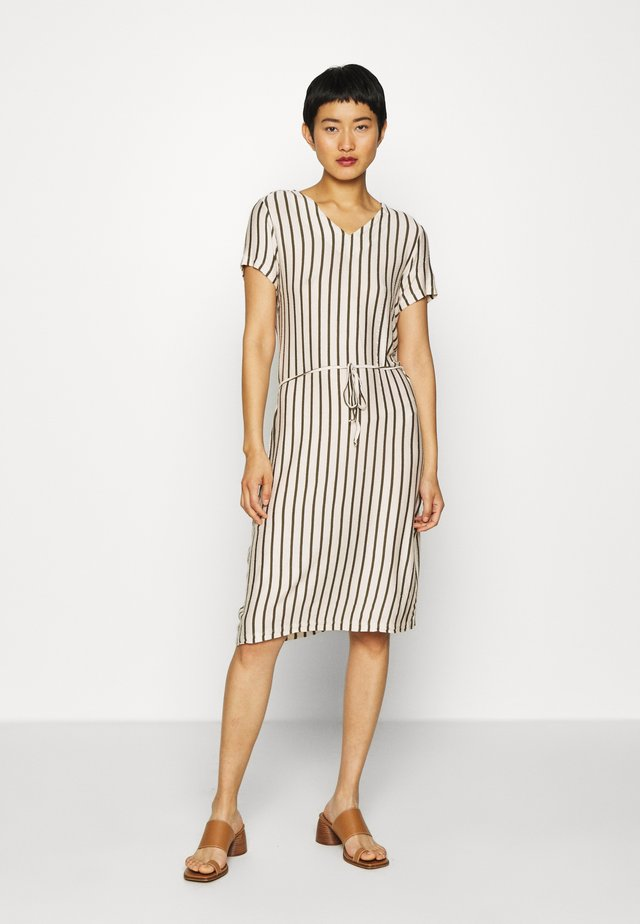 IRINA STRIPE - Day dress - army combi
