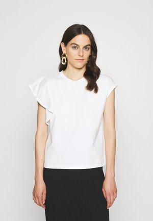 PARKER RUFFLE - Print T-shirt - white