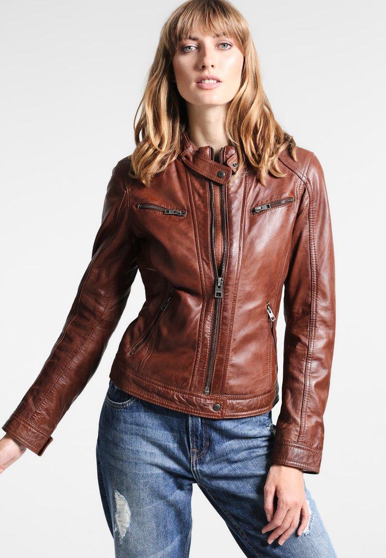 Oakwood - Leather jacket - tobacco
