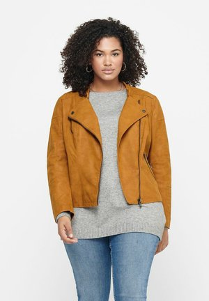 CARAVANA  - Faux leather jacket - pumpkin spice