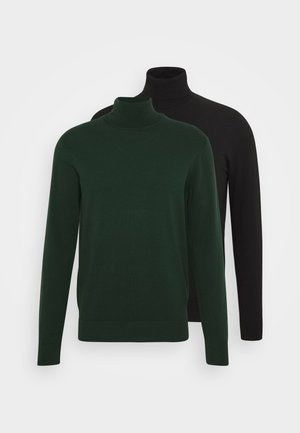 2 PACK - Strickpullover - black/dark green