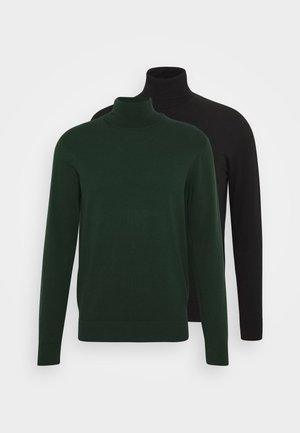 2 PACK - Jumper - black/dark green