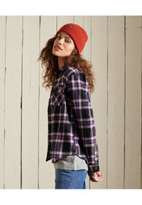 Superdry - CLASSIC - Button-down blouse - hatton check navy - 1