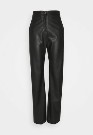 PANT WIDE - Trousers - nero