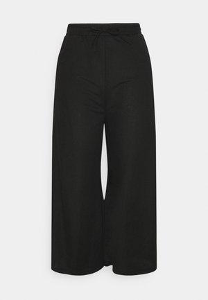 TIE WAIST JERSEY CULOTTE - Pantalones - black