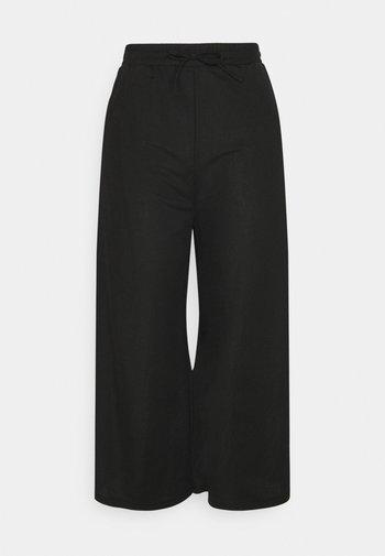 TIE WAIST JERSEY CULOTTE - Kalhoty - black