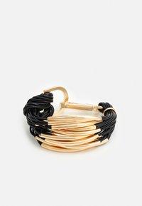 sweet deluxe - BRACELETT - Bracelet - black/gold-coloured - 0