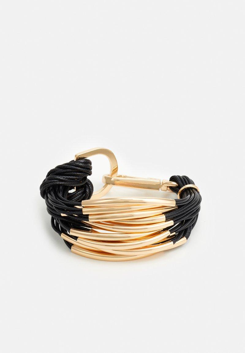 sweet deluxe - BRACELETT - Bracelet - black/gold-coloured
