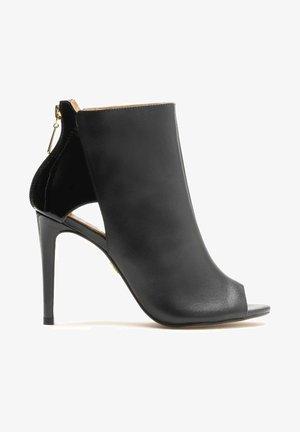 MEGAN - Peeptoe heels - black