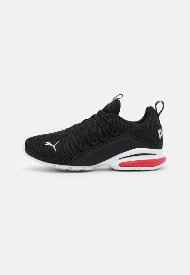 AXELION JR UNISEX - Chaussures d'entraînement et de fitness - black/silver/high risk red
