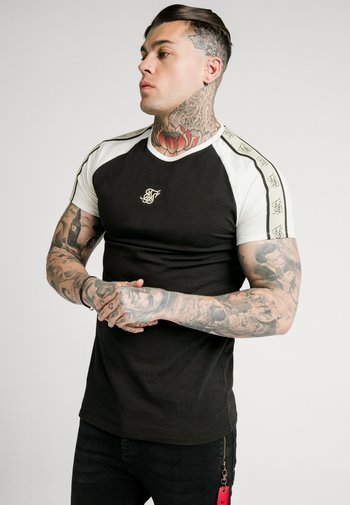 RAGLAN PREMIUM TAPE GYM - T-shirt med print - black/white