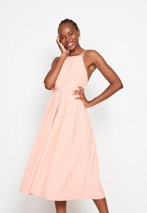 STRAPPY SKATER - Cocktail dress / Party dress - coral