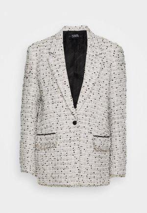 LONG JACKET - Short coat - white/black