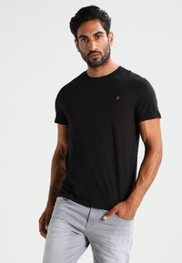 Farah - DENNY SLIM FIT - T-shirt basique - black - 0