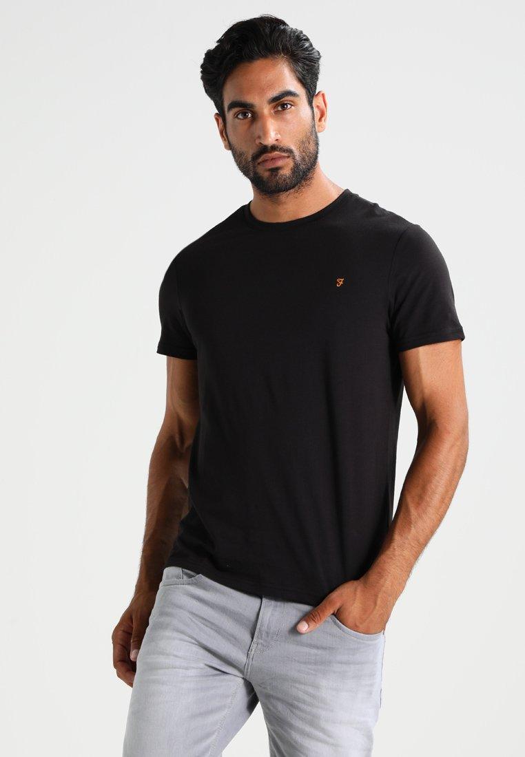 Farah - DENNY SLIM FIT - T-shirt basique - black