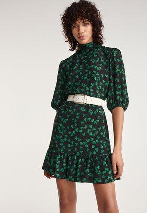Jersey dress - black / green