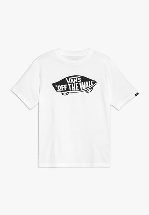 BOYS - T-shirt med print - white/black