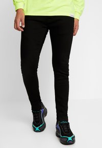 Nudie Jeans - TIGHT TERRY - Slim fit -farkut - ever black - 0