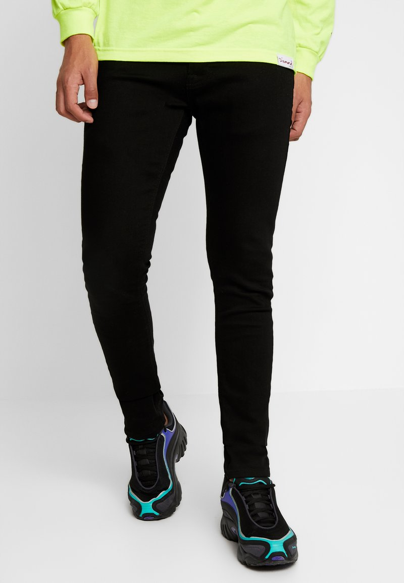 Nudie Jeans - TIGHT TERRY - Slim fit -farkut - ever black