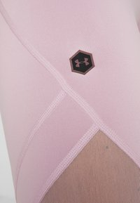 Under Armour - RUSH CROP - Leggings - pink fog/black - 7
