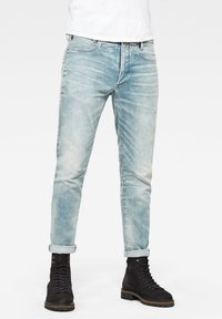 G-Star - 5620 3D ZIP KNEE SKINNY - Jeans Skinny Fit - sun faded scanda blue