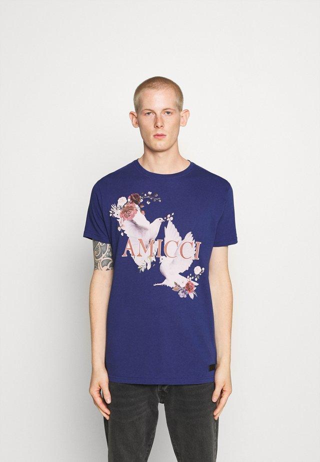SIRMONE - T-shirt con stampa - navy