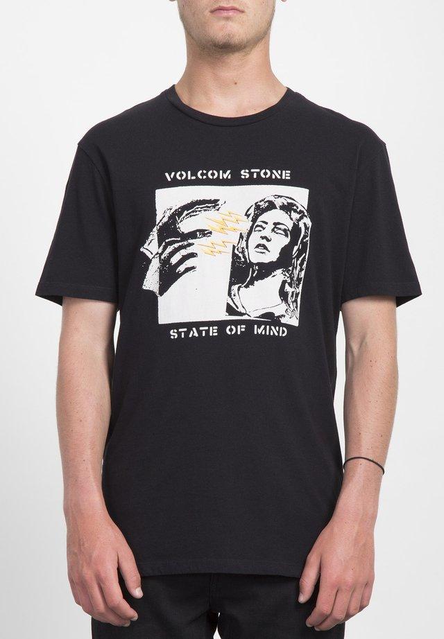 STATEOFMIND  - T-shirt con stampa - black