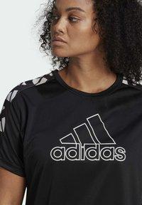 adidas Performance - OWN THE RUN CELEBRATION T-SHIRT (PLUS SIZE) - T-shirt print - black - 2