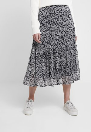 LONDEASE - Pleated skirt - dark blue