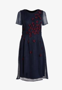 Apart - DRESS WITH FLOWER EMBROIDERY - Cocktail dress / Party dress - midnight blue/bordeaux - 3
