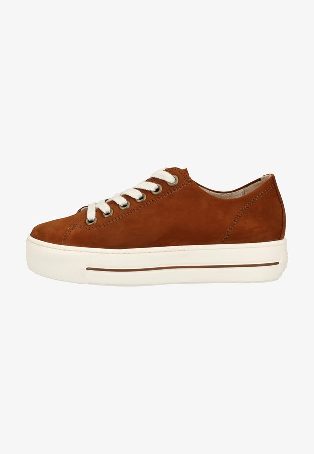 Sneaker low - cognac-braun 237