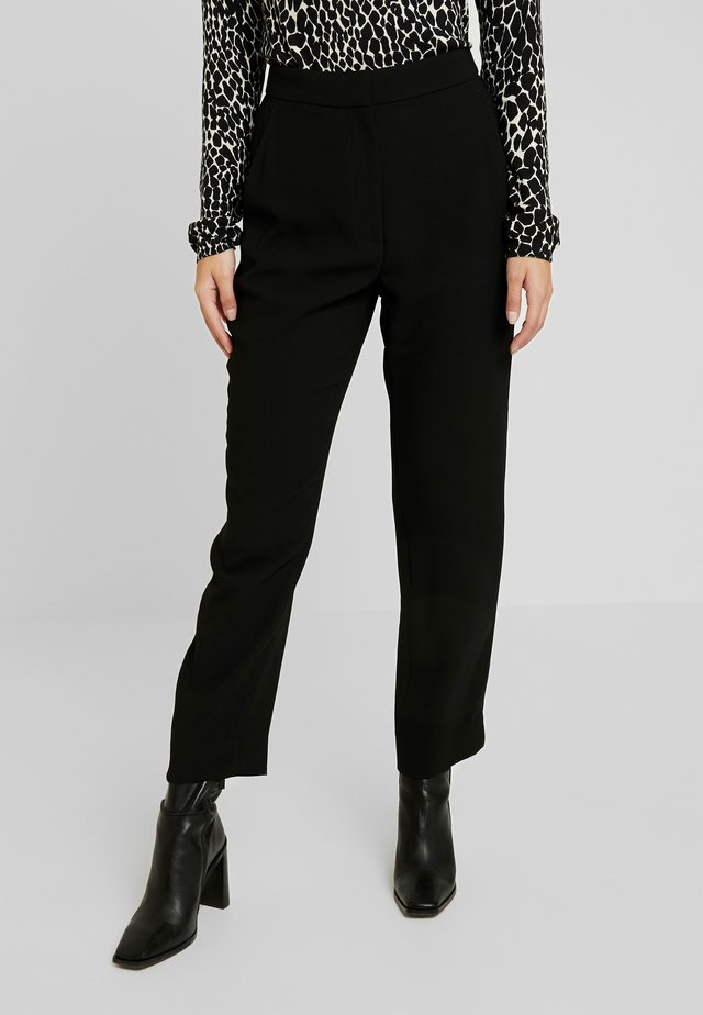 HIGH RISE EASY PANT - Kangashousut - black