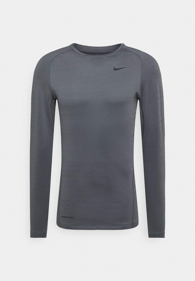 Nike Performance - WARM CREW - Sports shirt - iron grey/black