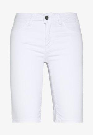 CITY - Denim shorts - white