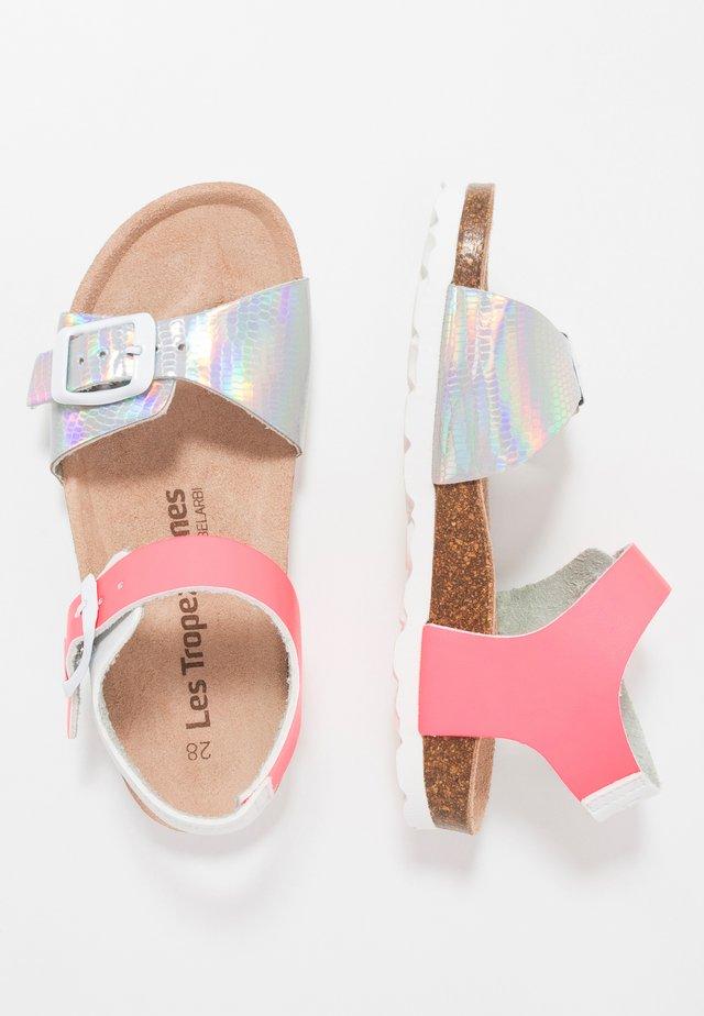 PISTACHE - Sandals - argent/rose