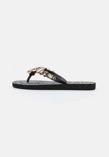T-bar sandals - nero/multicolor