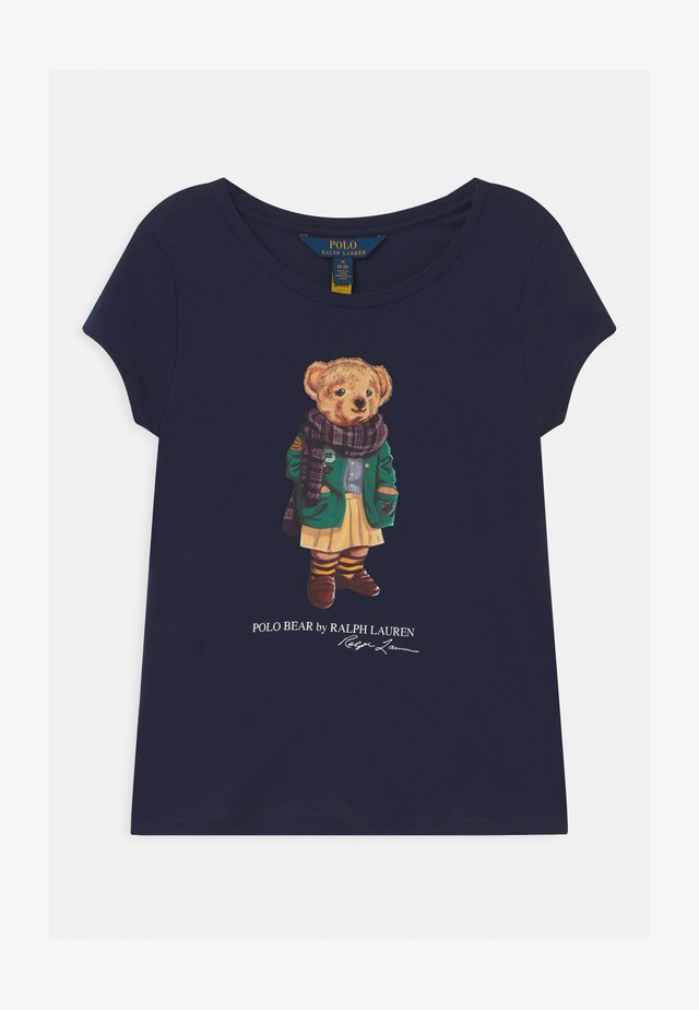 BEAR - Print T-shirt - french navy