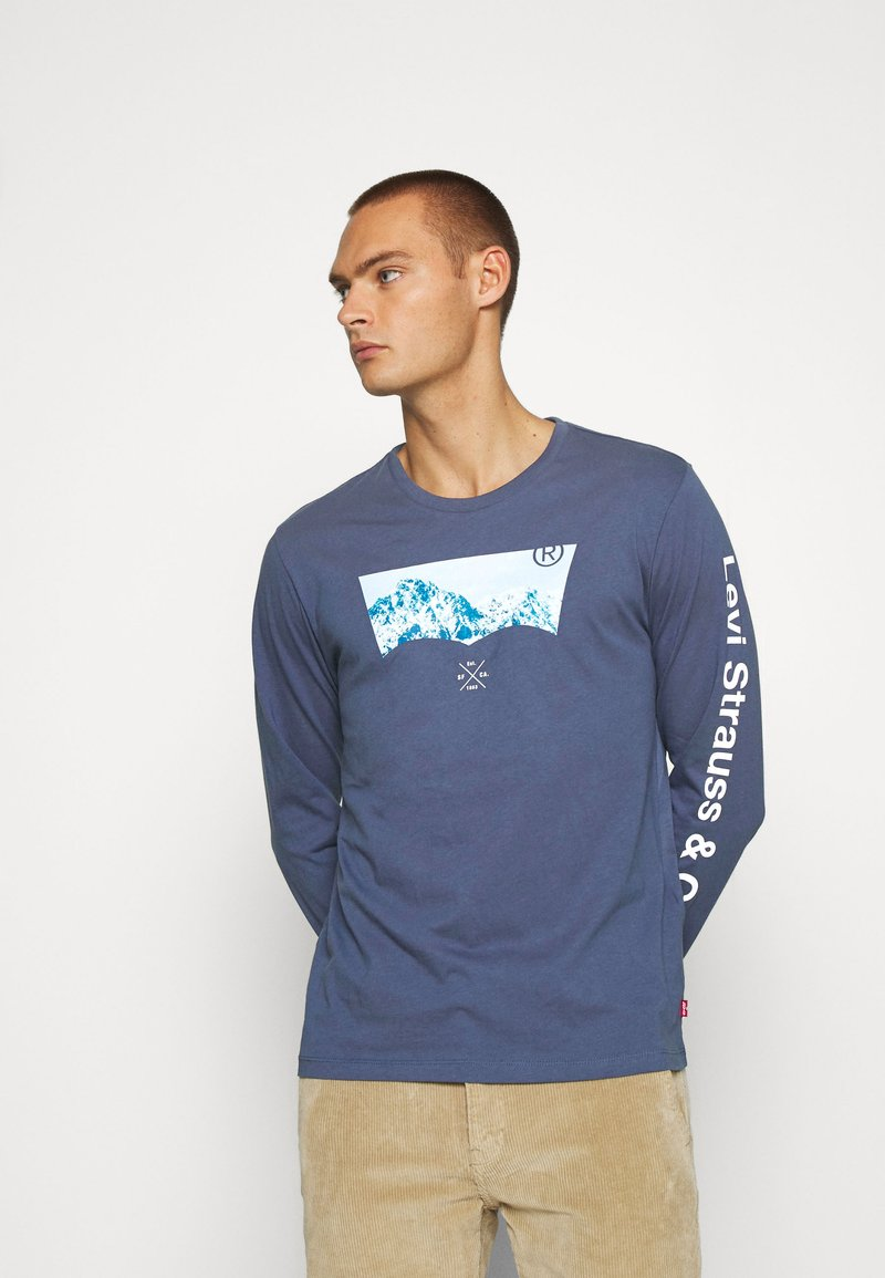 Levi's® - GRAPHIC TEE UNISEX - Maglietta a manica lunga - blue inigo